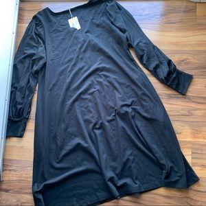 Peruvian connection longsleeve black dress XL